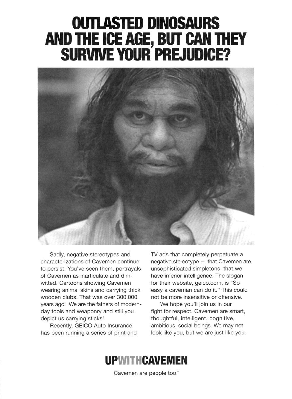 Geico Caveman Ad Images & Pictures - Becuo